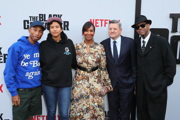 Pharrell Williams Helen Lasichanh Premiere Of Netflix's 'The Black Godfather'