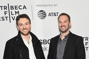 """Michael Zimbalist and Jeff Zimbalist attend the screening of """"Phenoms: Goalkeepers"""" during the 2018 Tribeca Film Festival at SVA Theatre on April 25, 2018 in New York City."""