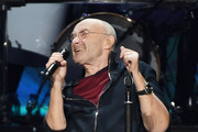 Recording artist Phil Collins performs during a stop of his Not Dead Yet Tour at MGM Grand Garden Arena on October 27, 2018 in Las Vegas, Nevada..