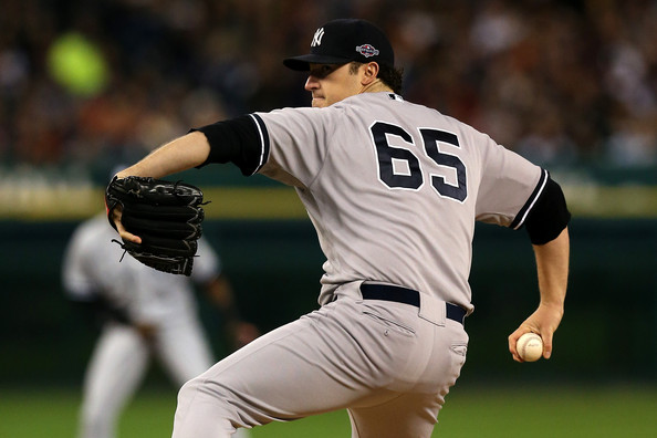 Phil Hughes - ALCS - New York Yankees v Detroit Tigers - Game Three