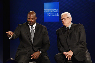 Phil Jackson American Express Teams Up With Shaquille O'Neal and Phil Jackson At The Altman Building In New York City