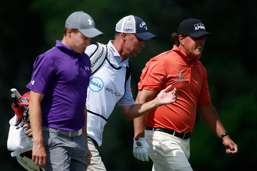 Phil Mickelson Jim MacKay World Golf Championships-Dell Match Play - Round One