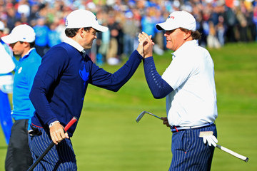 Phil Mickelson Keegan Bradley Morning Fourballs