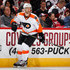 Nick Schultz Photos - Nick Schultz #55 of the Philadelphia Flyers in action during the NHL game against Arizona Coyotes at Gila River Arena on October 15, 2016 in Glendale, Arizona.  The Coyotes defeated the Flyers 4-3 in overtime. - Philadelphia Flyers v Arizona Coyotes