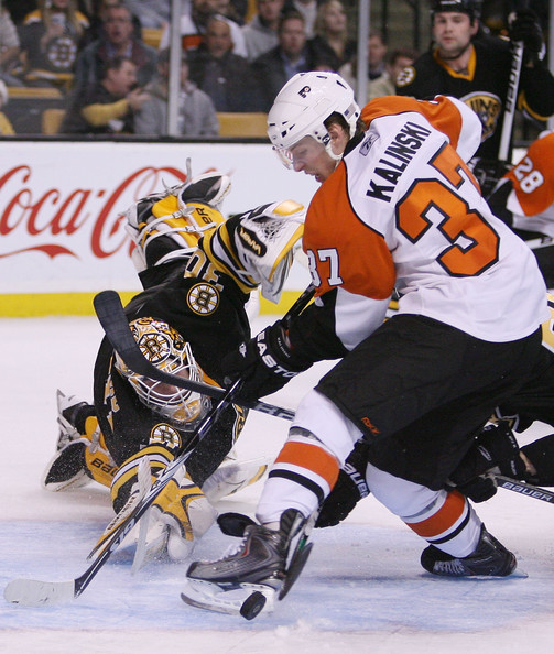 Jon Kalinski In Philadelphia Flyers V Boston Bruins