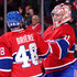Carey Price Daniel Briere Photos - Carey Price #31 and Daniel Briere #48 of the Montreal Canadiens celebrate after defeating the Philadelphia Flyers 4-1 during their NHL game at the Bell Centre on October 5, 2013 in Montreal, Quebec, Canada.  The Canadiens defeated the Flyers 4-1. - Philadelphia Flyers v Montreal Canadiens