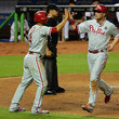 Andres Blanco and Cody Asche Photos