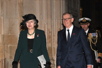 Philip May The Queen Attends A Service At Westminster Abbey Marking The Centenary Of WW1 Armistice