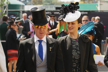 Philip Treacy Celebrities Attend Crown Oaks Day
