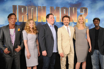 "Scarlett Johansson Robert Downey Jr. Photo Call For Paramount Pictures & Marvel Entertainment's ""Iron Man 2"""