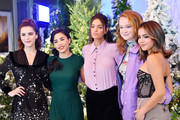 """(L-R) Kiernan Shipka, Anna Akana, Odeya Rush, Liv Hewson and Isabela Moner attend the photocall for Netflix's """"Let It Snow"""" at the Beverly Wilshire Four Seasons Hotel on November 01, 2019 in Beverly Hills, California."""