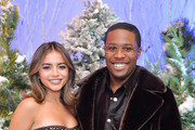 """Isabela Moner and Shameik Moore attend the photocall for Netflix's """"Let It Snow"""" at the Beverly Wilshire Four Seasons Hotel on November 01, 2019 in Beverly Hills, California."""