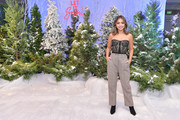 """Isabela Moner attends the photocall for Netflix's """"Let It Snow"""" at the Beverly Wilshire Four Seasons Hotel on November 01, 2019 in Beverly Hills, California."""