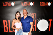"""Eiza Gonzalez, Vin Diesel, attend a Photocall Of Sony Pictures' """"Bloodshot"""" at The London Hotel on March 06, 2020 in West Hollywood, California."""