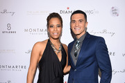TV personality Daphne Wayans and actor Vinicius Machado attend the Pia Gladys Perey Spring/Summer 2016 Fashion Show at Sofitel Hotel on October 23, 2015 in Los Angeles, California.