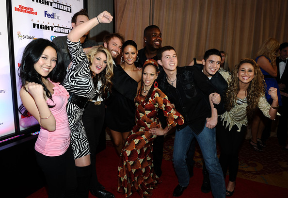 Pia Toscano American Idol finalists Thia Megia,Lauren Alaina, James Durbin, Paul McDonald, Pia Toscano, Jacob Lusk, Naima Adedapo, Stefano Langone, Scotty McCreery and Haley Reinhart attend Muhammad Ali's Celebrity Fight Night XVII at JW Marriot Desert Ridge Resort & Spa on March 19, 2011 in Phoenix, Arizona.