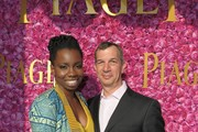 Actress Adepero Oduye and Philippe Leopold-Metzger, Piaget CEO in the Piaget Lounge at the 2012 Film Independent Spirit Awards at Santa Monica Pier on February 25, 2012 in Santa Monica, California.