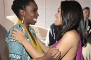 Actresses Adepero Oduye and Rosario Dawson in the Piaget Lounge at the 2012 Film Independent Spirit Awards at Santa Monica Pier on February 25, 2012 in Santa Monica, California.