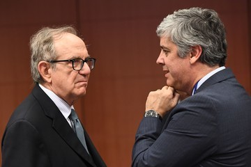 Pier Carlo Padoan Eurogroup Ministerial Meeting at the European Council in Brussels