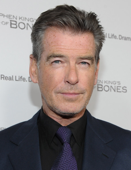 "Pierce Brosnan Actor Pierce Brosnan attends A&E's premiere party event for Stephen King's ""Bag of Bones"" at Fig & Olive Melrose Place on December 8, 2011 in West Hollywood, California."