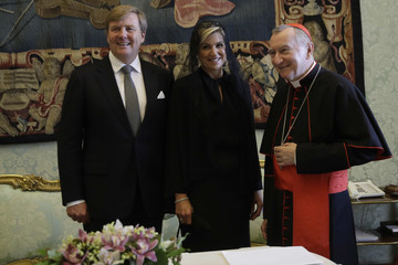 Pietro Parolin The King and Queen of The Netherlands Visit Italy : Day Three