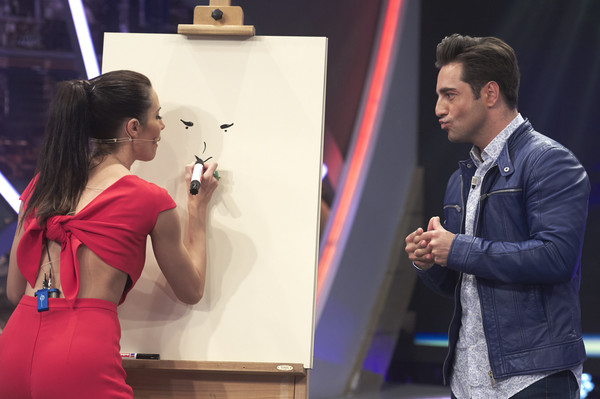 Monica Cruz, Rafael Amargo, and David Bustamante Appear on 'El Hormiguero' TV Show