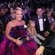 Pink Carey Hart 60th Annual GRAMMY Awards - Roaming Show
