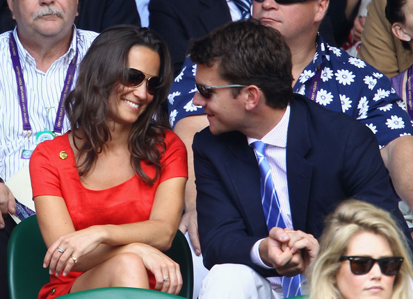 Pippa Middleton Pippa Middleton and Alex Loudon attend the quarterfinal round match between Roger Federer of Switzerland and Jo-Wilfried Tsonga of France on Day Nine of the Wimbledon Lawn Tennis Championships at the All England Lawn Tennis and Croquet Club on June 29, 2011 in London, England.