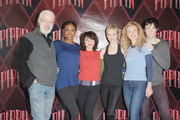 """(L-R) Actors/cast members Terrence Mann, Patina Miller, Andrea Martin, Charlotte d'Amboise, Rachel Bay Jones and Matthew James Thomas attend the """"Pippin"""" Broadway Open Press Rehearsal at Manhattan Movement & Arts Center on March 8, 2013 in New York City."""