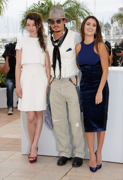 "(L-R) Actress Astrid Berges-Frisbey, actor Johnny Depp, actress Penelope Cruz attend the ""Pirates of the Caribbean: On Stranger Tides"" photocall at the Palais des Festivals during the 64th Cannes Film Festival on May 14, 2011 in Cannes, France."