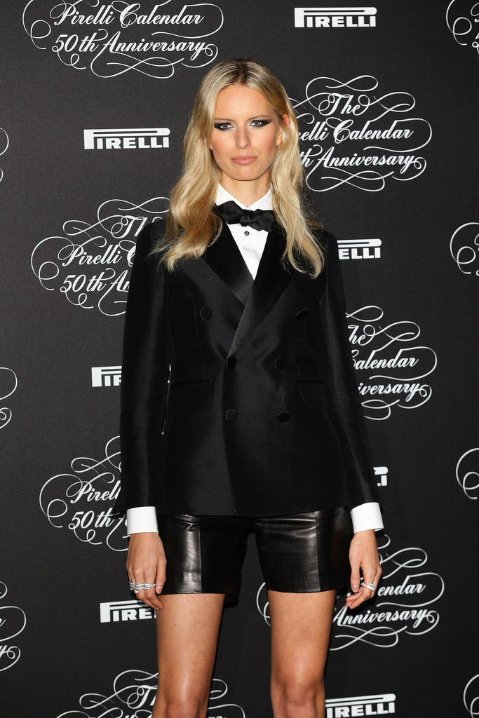 Karolina Kurkova attends the Pirelli Calendar 50th Anniversary event on November 21, 2013 in Milan, Italy.