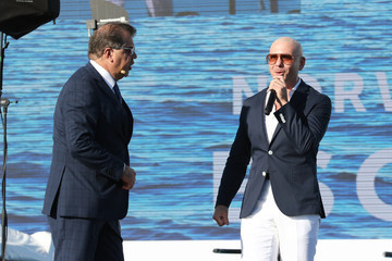 Pitbull Norwegian Escape Christening Ceremony