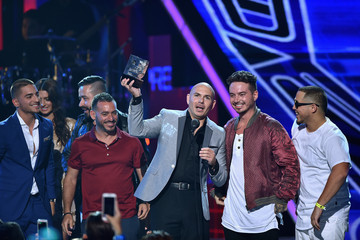 Pitbull Celebrities Attend Univision's Premios Juventud 2015