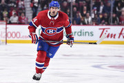 Tomas Plekanec #14 of the Montreal Canadiens skates against the Pittsburgh Penguins during the NHL game at the Bell Centre on October 13, 2018 in Montreal, Quebec, Canada.  The Montreal Canadiens defeated the Pittsburgh Penguins 4-3 in a shootout.
