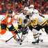 Sidney Crosby Patric Hornqvist Photos - Patric Hornqvist #72 and Sidney Crosby #87 of the Pittsburgh Penguins skates against the Philadelphia Flyers during the first period in Game Three of the Eastern Conference First Round during the 2018 NHL Stanley Cup Playoffs at the Wells Fargo Center on April 15, 2018 in Philadelphia, Pennsylvania. - Sidney Crosby Patric Hornqvist Photos - 2 of 19