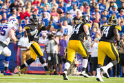 Michael Vick #2 of Pittsburgh Steelers throws the ball during the first half against the Buffalo Bills during a preseason game on August 29, 2015 at Ralph Wilson Stadium in Orchard Park, New York.