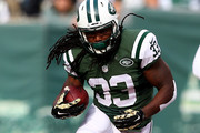 Running back Chris Ivory #33 of the New York Jets carries the ball in the first quarter against the Pittsburgh Steelers during a game at MetLife Stadium on November 9, 2014 in East Rutherford, New Jersey.