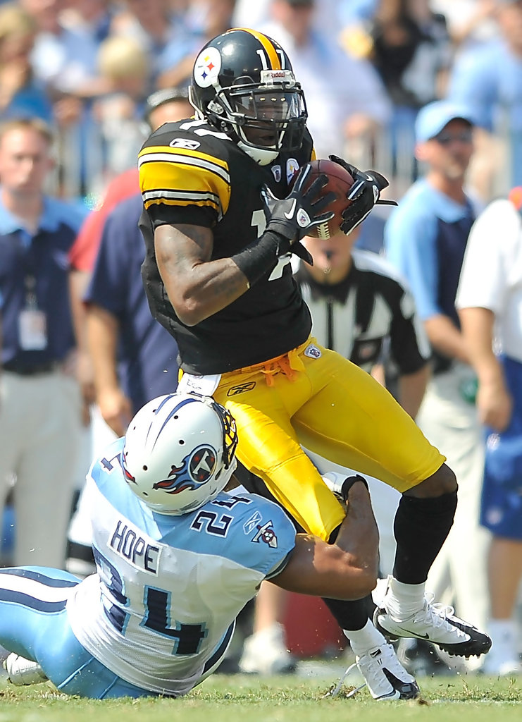 mike wallace photos photos pittsburgh steelers v