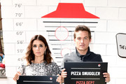 (L-R) Shiri Appleby and Kevin Zegers of 'What Just Happened??! with Fred Savage' attend the Pizza Hut Lounge at 2019 Comic-Con International: San Diego on July 19, 2019 in San Diego, California.