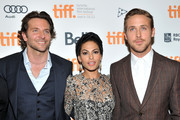 """Actors (L-R) Bradley Cooper, Eva Mendes and Ryan Gosling attend """"The Place Beyond The Pines"""" premiere during the 2012 Toronto International Film Festival at Princess of Wales Theatre on September 7, 2012 in Toronto, Canada."""