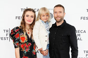 "(L-R) Nicole Berger, Bodhi Palmer and Mark Webber attend the ""The Place of No Words"" - 2019 Tribeca Film Festival at SVA Theater on April 27, 2019 in New York City."