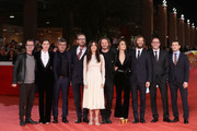 Rocco Papaleo, Vittoria Puccini, Paolo Genovese, Marco Giallini, Sabrina Ferilli, Silvio Muccino, Silvia D'amico,Alessandro Borghi, Valerio Mastandrea and Vinicio Marchioni walk a red carpet for 'The Place' during the 12th Rome Film Fest at Auditorium Parco Della Musica on November 4, 2017 in Rome, Italy.