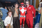 (L) to (R) Guest, Eric Podwall, Chace Crawford and Chord Overstreet attend Podwall Entertainment's 9th Annual Halloween Party Presented By Makers Mark at The Peppermint Club on October 31, 2018 in Los Angeles, California.