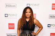 Tracie Thoms attends Point Honors Los Angeles 2019, Benefitting Point Foundation at The Beverly Hilton Hotel on October 12, 2019 in Beverly Hills, California.