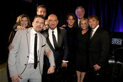 (EXCLUSIVE COVERAGE) (L-R) Actor Ethan Hawke, producer John Sloss, Sir Ben Kingsley, actor Ellar Coltrane, producer John Sehring, actress Patricia Arquette and director Richard Linklater attend the 20th annual Critics' Choice Movie Awards at the Hollywood Palladium on January 15, 2015 in Los Angeles, California.