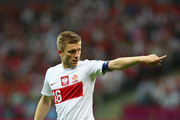 Jakub Blaszczykowski of Poland signals during the UEFA EURO 2012 group A match between Poland and Russia at The National Stadium on June 12, 2012 in Warsaw, Poland.