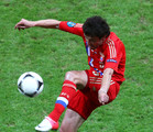 Yuriy Zhirkov of Russia in action during the UEFA EURO 2012 group A match between Poland and Russia at The National Stadium on June 12, 2012 in Warsaw, Poland.