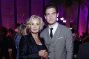 """Jessica Lange and David Corenswet attend """"The Politician"""" New York Premiere after party at The Pool on September 26, 2019 in New York City."""