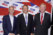 (L-R) Rep. Joe Walsh, Gov. Mark Sanford and Gov. Bill Weld attend the 2019 Politicon at Music City Center on October 26, 2019 in Nashville, Tennessee.