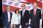 (L-R) Rep. Joe Walsh, Jennifer Rubin, Gov. Mark Sanford and Gov. Bill Weld attend the 2019 Politicon at Music City Center on October 26, 2019 in Nashville, Tennessee.